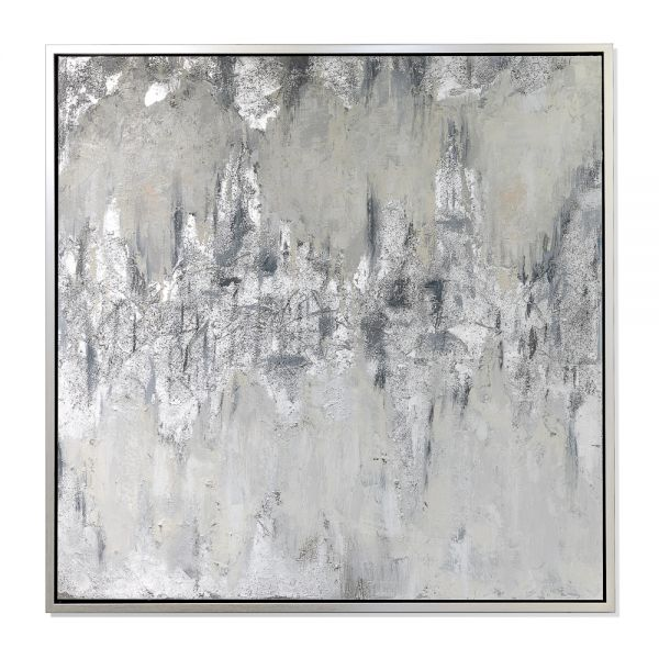TEXTURED SILVER PAINTING LARGE