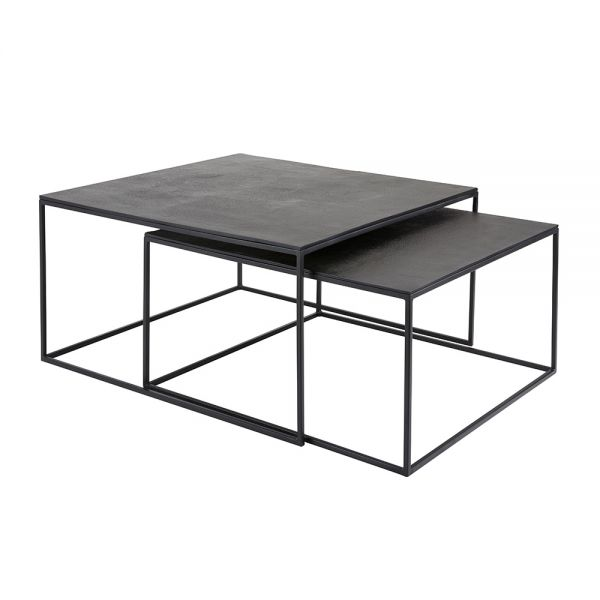 Iron Square Coffee Table (Set of 2)