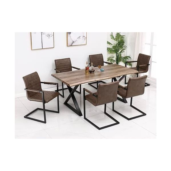 T-1811 Faux Wood Dining Table
