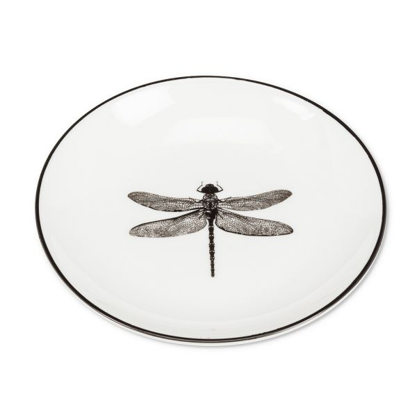 Round Pin Dish with Dragonfly