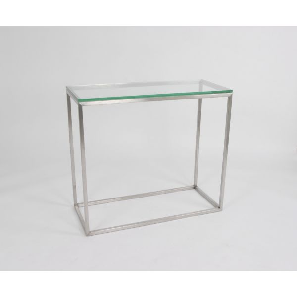 Milan Console with Glass Top
