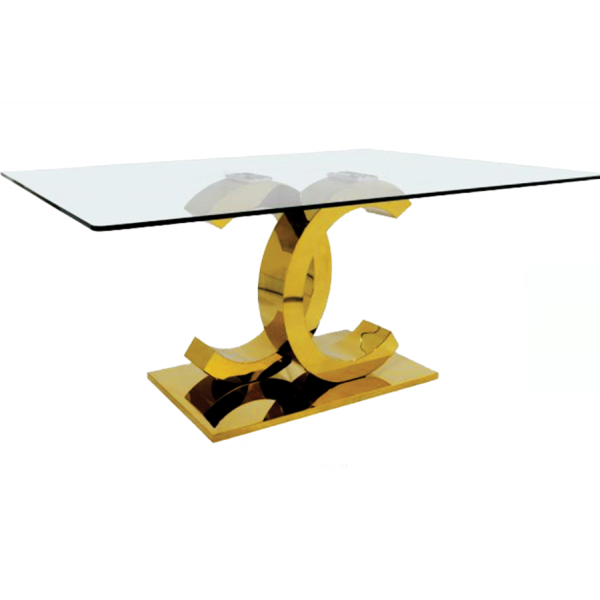 Gold Coco Dining Table