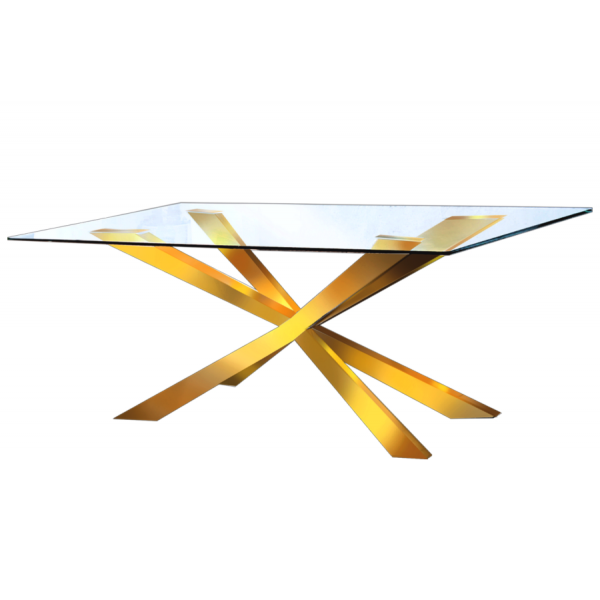 Merlin Gold Dining Table