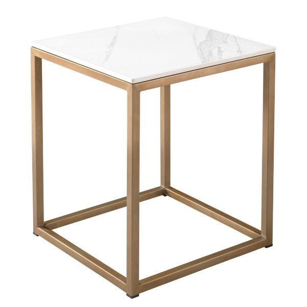 Milan End Table with Stone Top