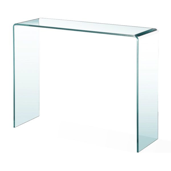 best service 9bc98 290a3 Bent Glass Console Table 47
