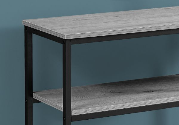 Pleasant Accent Table 42L Grey Black Metal Hall Console Squirreltailoven Fun Painted Chair Ideas Images Squirreltailovenorg