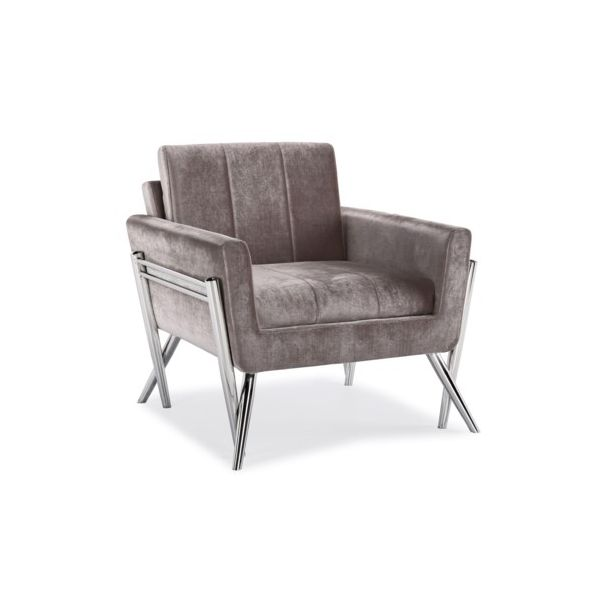 MORGAN Lounge chair Grey Velvet