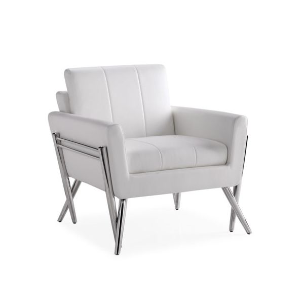 MORGAN Lounge chair Aspen White Leatherette