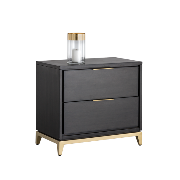 Edmund Nightstand - Brushed Gold
