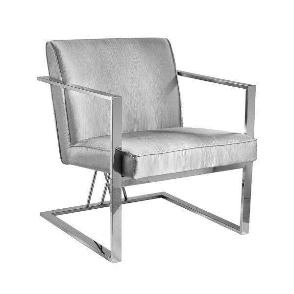 Fairmont Accent Chair Silver Satin