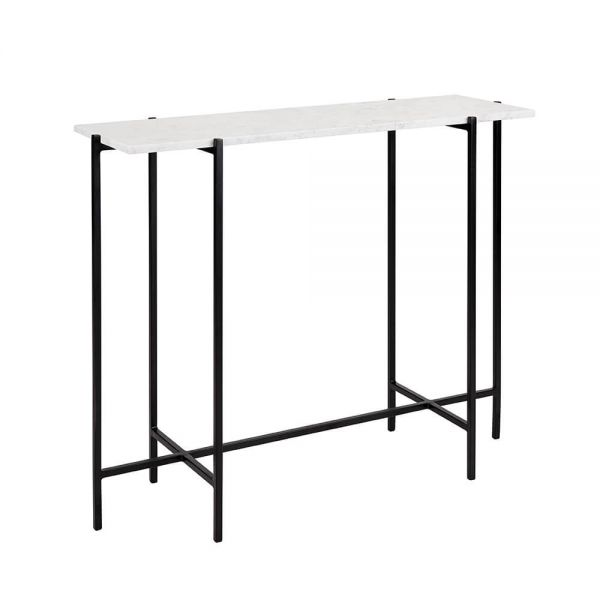 Ida Black Metal Console Table