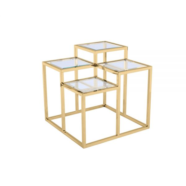 Elmore End Table Gold