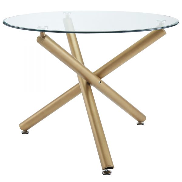 CARMILLA-DINING TABLE-GOLD