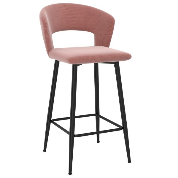 Camille 26'' Counter Stool in Dusty Rose