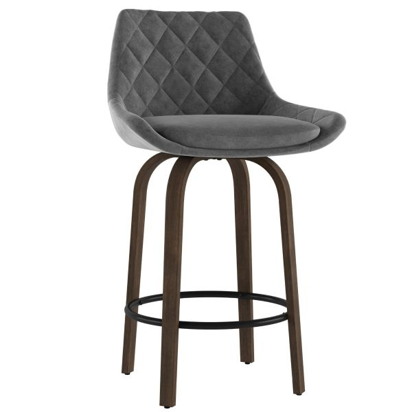 Kenzo 26'' Counter Stool in Grey
