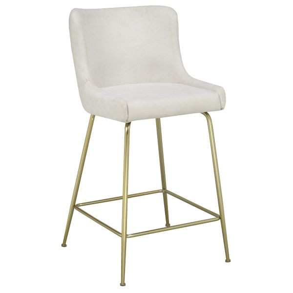 Giselle 26'' Counter Stool in Beige