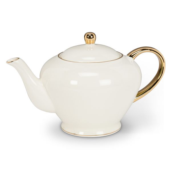 Teapot with Gold Handle