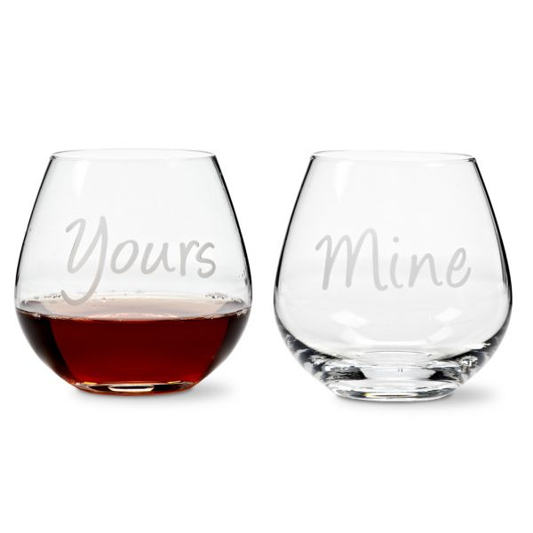 Yours & Mine Stemless Goblet