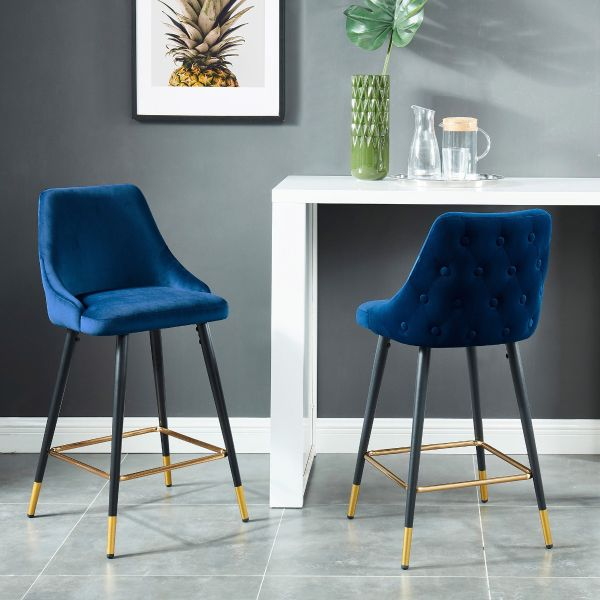 Roxanne 26'' Counter Stool in Blue