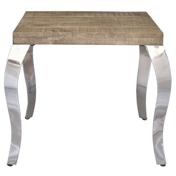 NATALIA-ACCENT TABLE-RECLAIMED/CHROME