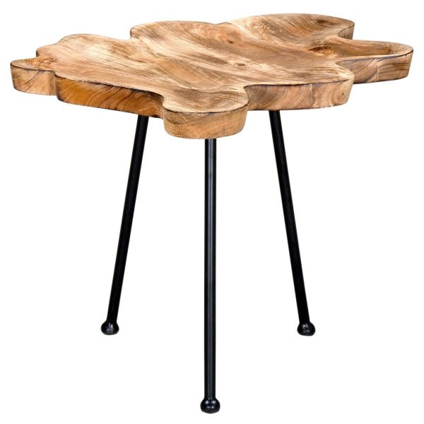 Pari Accent Table in Natural/Black Legs