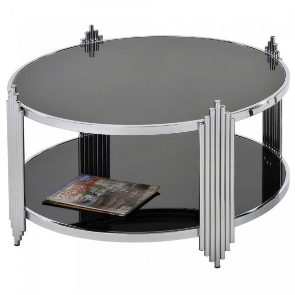 Ultra Coffee Table in Chrome & Black
