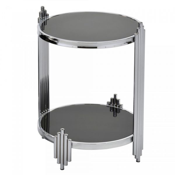Ultra Accent Table in Chrome & Black