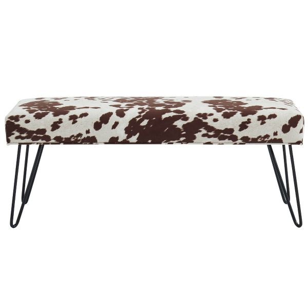Angus Double Bench in Brown