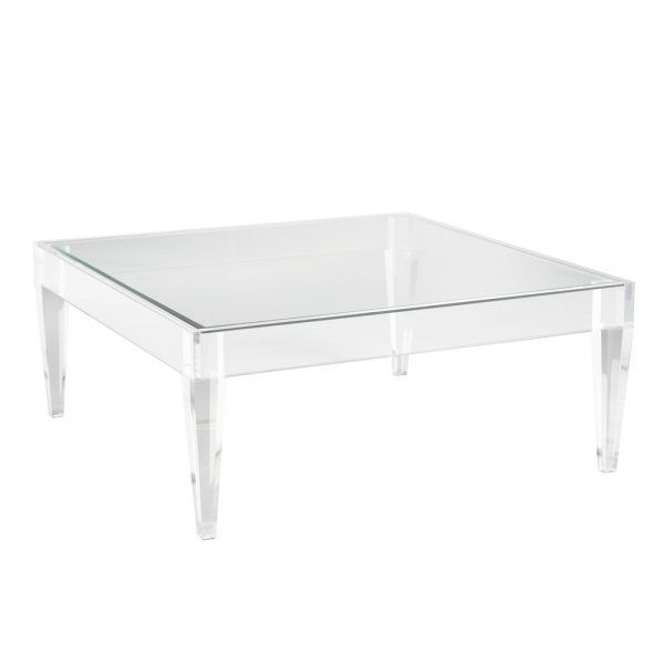 Avalon Acrylic Coffee Table Square