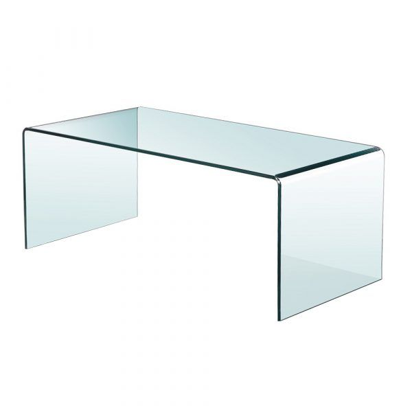 Bent Glass Coffee Table Without Shelf 43