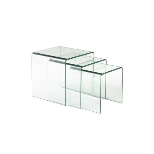 Bend Glass Nesting Tables Set Of 3