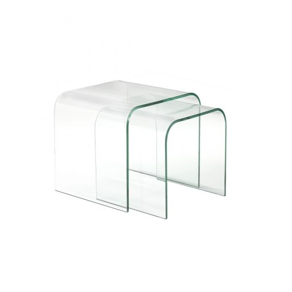 Bend Glass Nesting Table Set Of 2