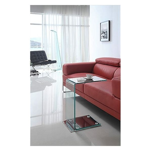 Bend Glass Accent Table