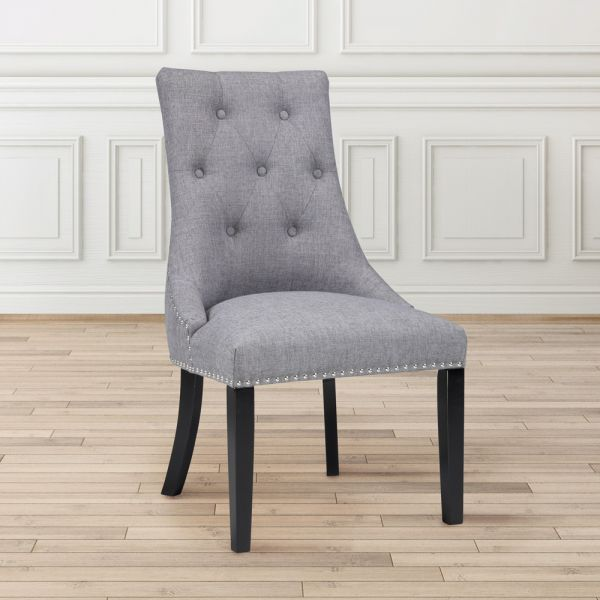 Rimzy Slate Fabric Dining Chair