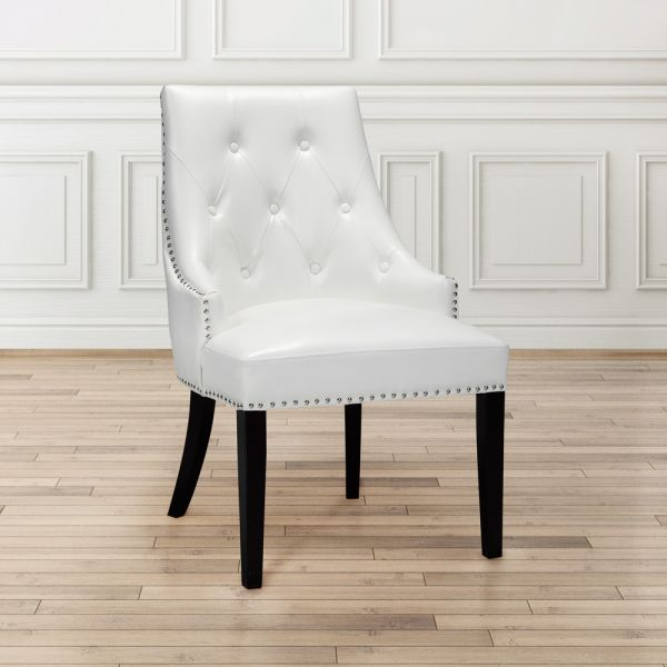 Oscar White Leatherette Dining Chair