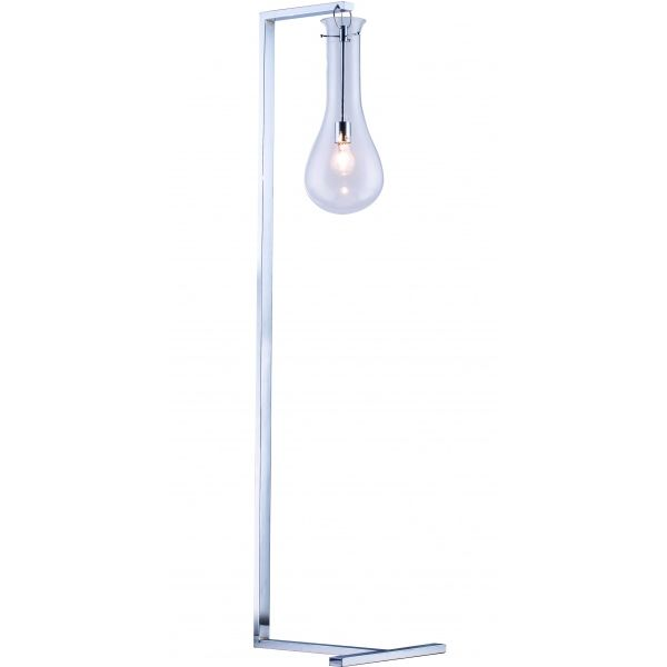 Floor Lamp With Clear Glass Shade
