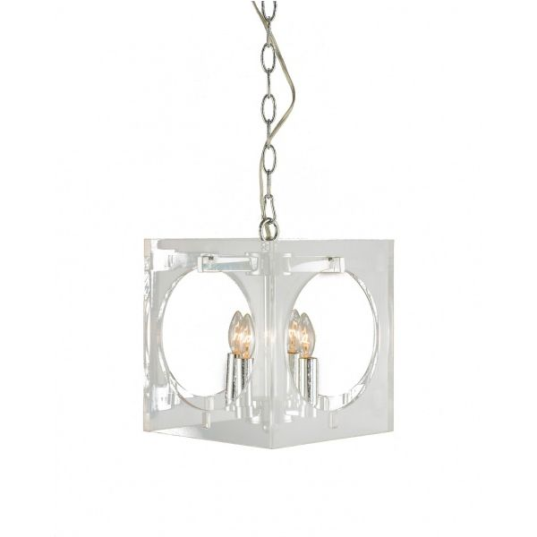 Light Fixture With Round Open Hole And Chrome Hardware