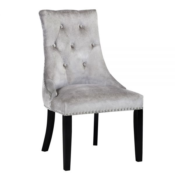 Rimzy Grey Velvet Dining Chair