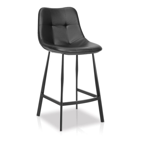 Barton Tufted Counter Stool Black