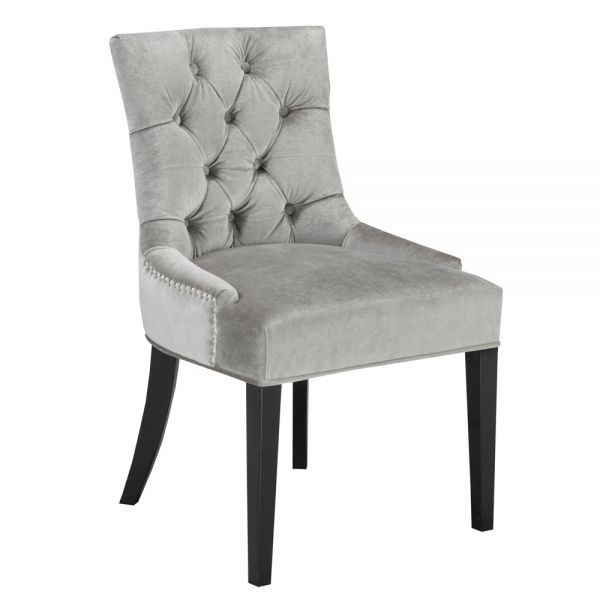 Petra Grey Velvet Dining Chair