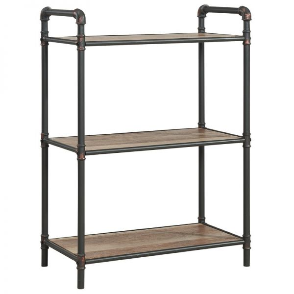 Bronx 3 Tier etagere in Antique Black